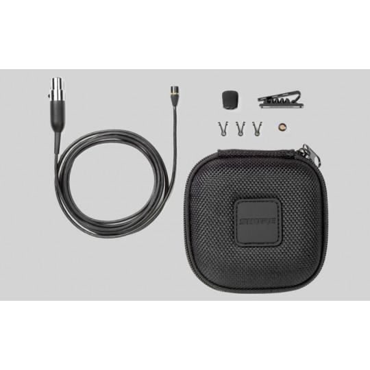 SHURE MX150B/C-XLR - miniaturní klopový mic, kardioida, mini-XLR s preamp RK 100PK, černý