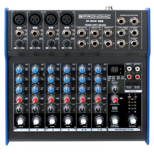 Pronomic M-802FX - mixání pult s efekty