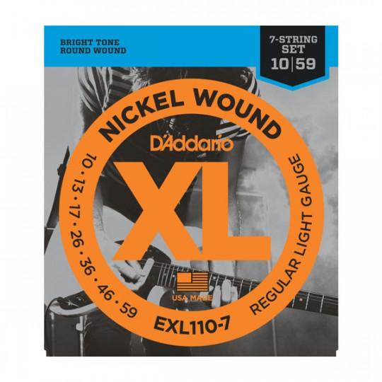 D'Addario EXL110-7 - struny pro elektrickou kytaru