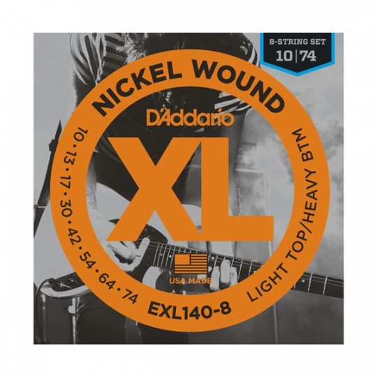 D'Addario EXL140-8 - struny pro elektrickou kytaru