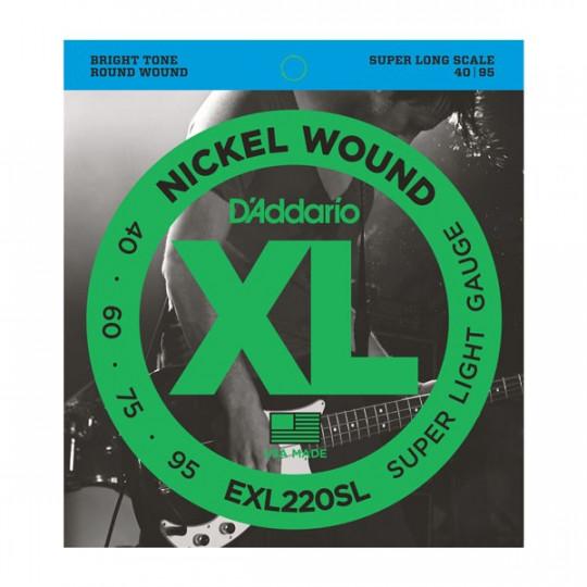 D'Addario EXL220SL - struny pro basovou kytaru