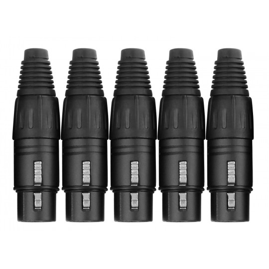 PROLINE XLR female konektor - set 5ks