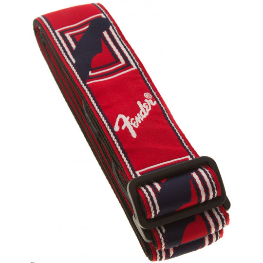 FENDER Monogramm Strap - Red, White, Blue