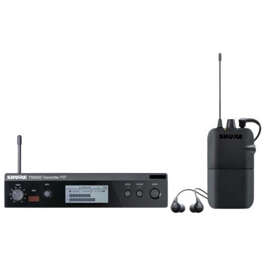 SHURE P3TER - PSM300 stereo monitoring systém (bodypack+vysílač)