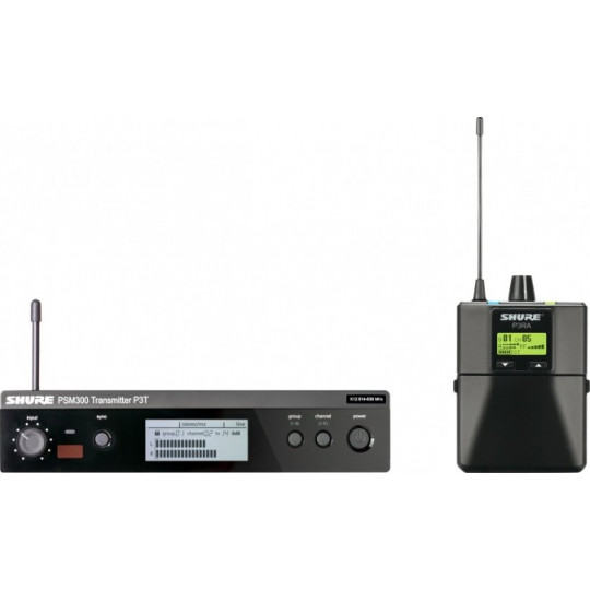 SHURE P3TERA - PSM300 stereo premium monitoring systém
