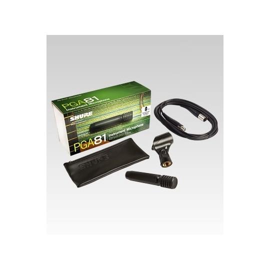 SHURE PGA81-XLR - Kondenzátorový nástrojový mikrofon