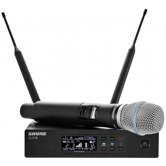 SHURE QLXD24E/B87C - QLX-D přijímač s ručním mikrofonem BETA87C