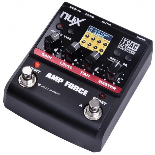 NUX AMP-FORCE - kytarový efekt Force: Simulátor 12-ti aparátů