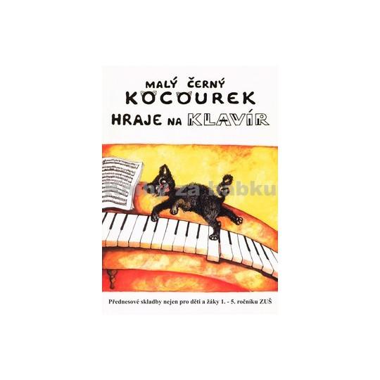 Malý černý kocourek hraje na klavír - Mlynář