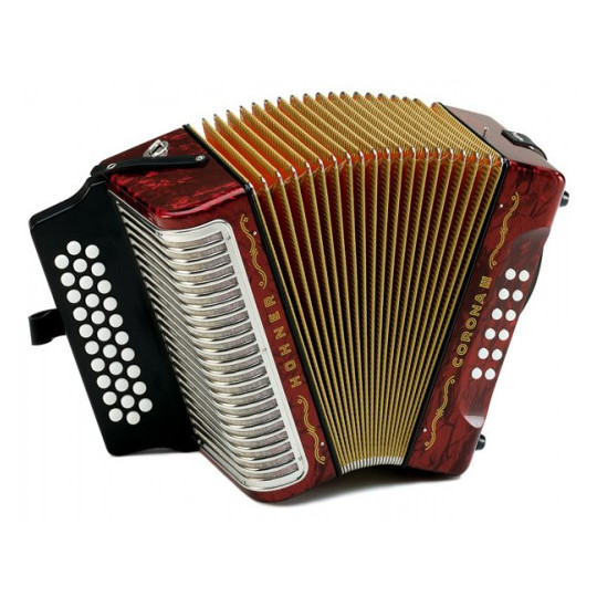 Hohner Corona III GCF, red - akordeon