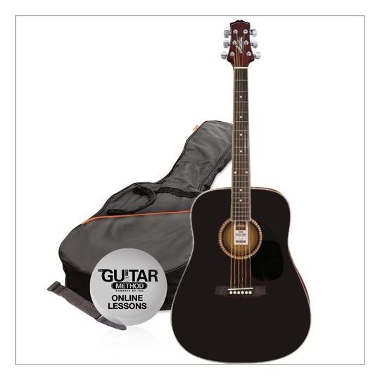 Ashton  D25 BK Pack 2014  - kytara dreadnought