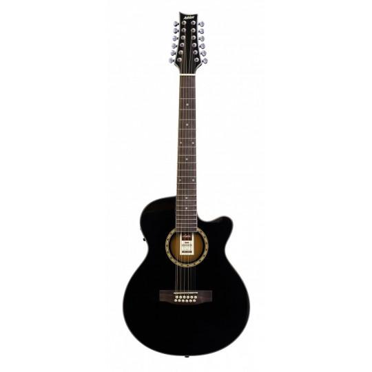 Ashton  SL 29/12CEQ BK  - 12-ti strunná kytara