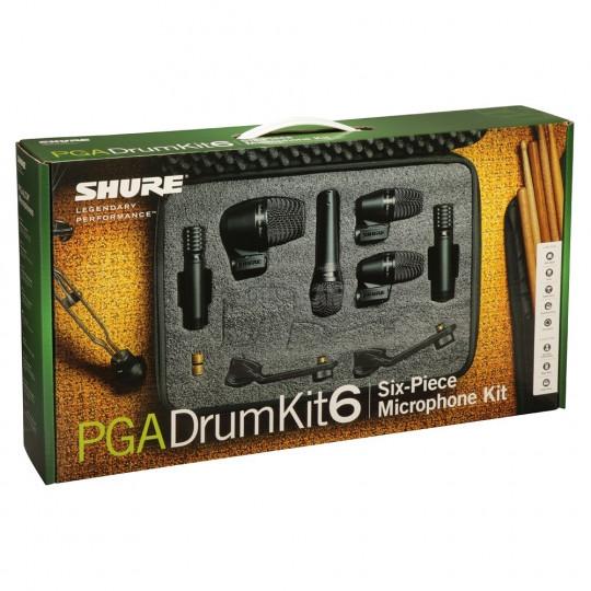 SHURE PGADRUMKIT6 - SADA PRO BICÍ. 2* PGA56, 1*PGA57, 1*PGA52, 2*PGA81  () (X)