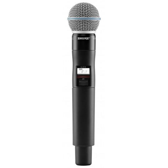 SHURE QLXD2/B58 - QLX-D ruční vysílač s mikrofonem BETA58A