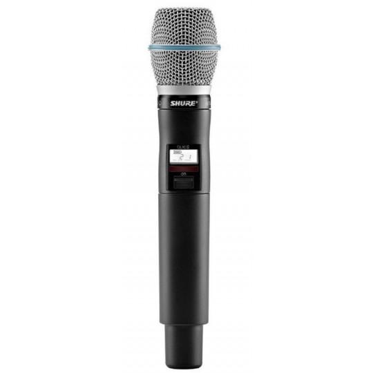 SHURE QLXD2/B87A - QLX-D ruční vysílač s mikrofonem BETA87A