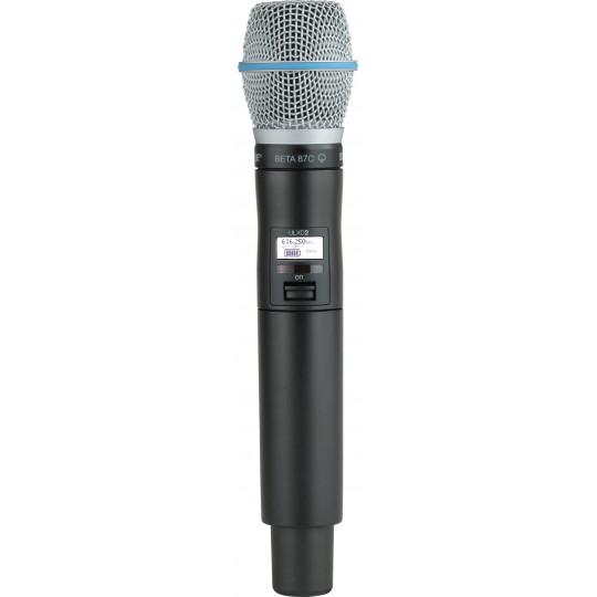 SHURE QLXD2/B87C - QLX-D ruční vysílač s mikrofonem BETA87C