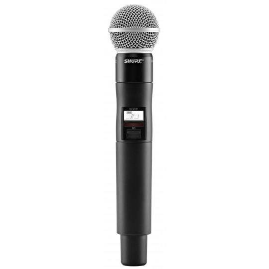 SHURE QLXD2/SM58 - QLX-D ruční vysílač s mikrofonem SM58