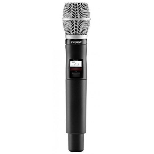 SHURE QLXD2/SM86 - QLX-D ruční vysílač s mikrofonem SM86