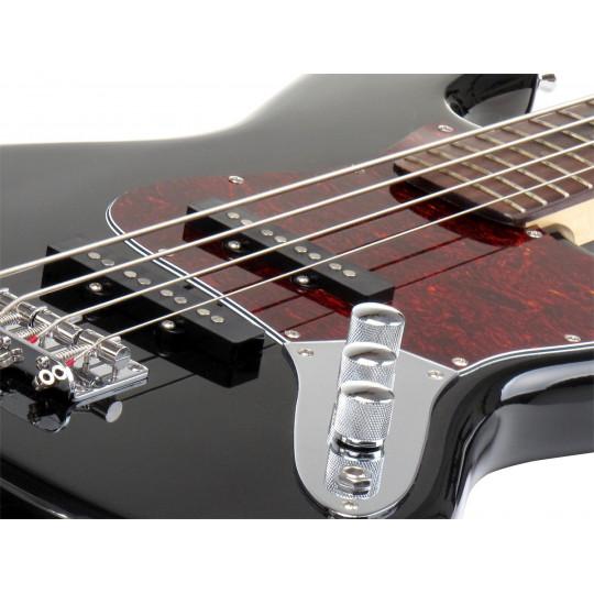 Rocktile Pro JB-30BK Black 70's Deluxe - elektrická baskytara