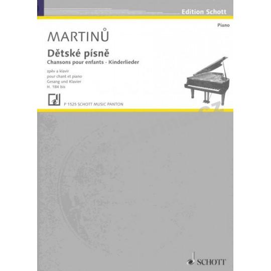 Dětské písně - Martinů Bohuslav