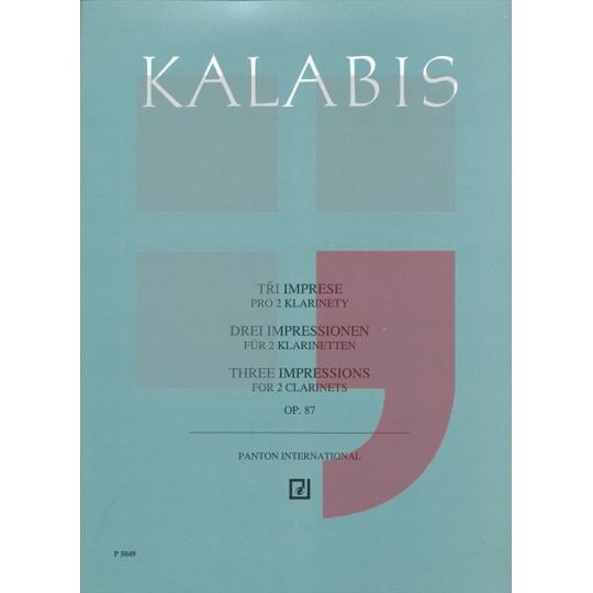 Tři imprese pro dva klarinety - Kalabis Viktor