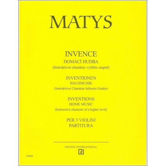 Invence Domácí hudba - Matys Jiří