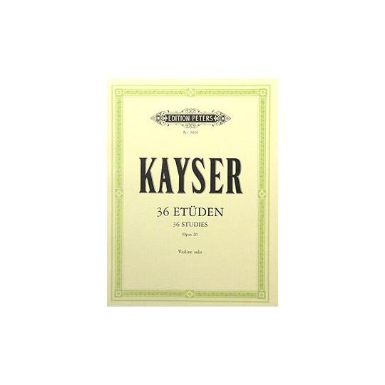 36 etud pro housle, op. 20 - Kayser Heinrich