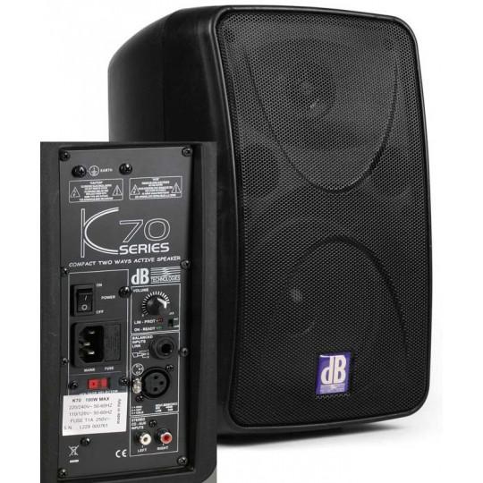 dB Technologies K - 70 - aktivní dvoupásmový reprobox, 50W