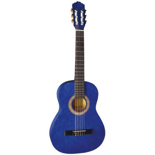 GEWApure Koncertní kytara Almeria Classic 4/4, transparentně modrá