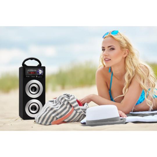 Beatfoxx Přenosný Bluetooth reproduktor USB, SD, AUX, FM / AM
