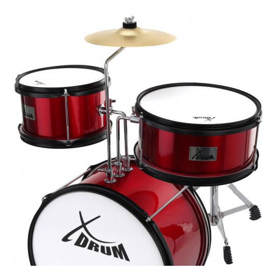 XDrum Junior bicí souprava - červená