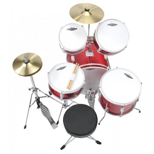 XDrum Junior Standard bicí souprava - červená