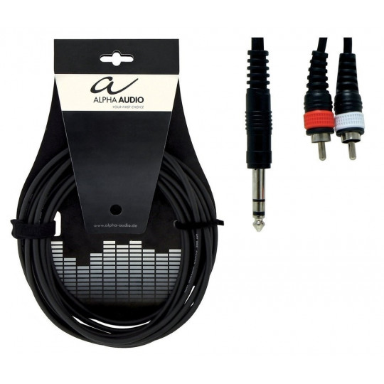 Alpha Audio Basic Y-Cable 1x 6,3 mm Stereo Jack - 2x Cinch 3m
