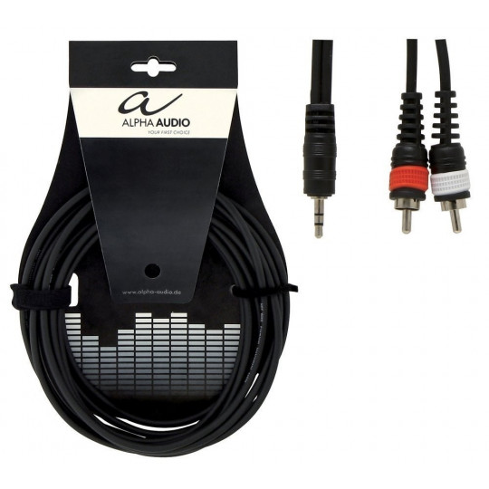 Alpha Audio Basic Y-Cable 1x 3,5 mm Stereo Jack - 2x Cinch 3m