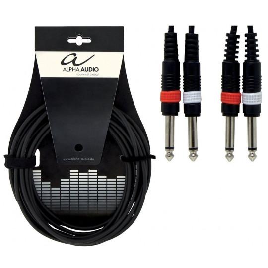 Alpha Audio Basic Twin 2x 6,3 mm Mono Jack - 2x 6,3 mm Mono Jack 6m