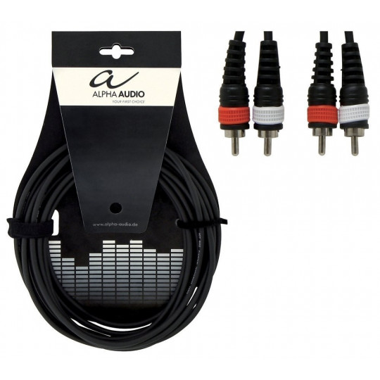 Alpha Audio Basic Twin 2x Cinch - 2x Cinch 3m