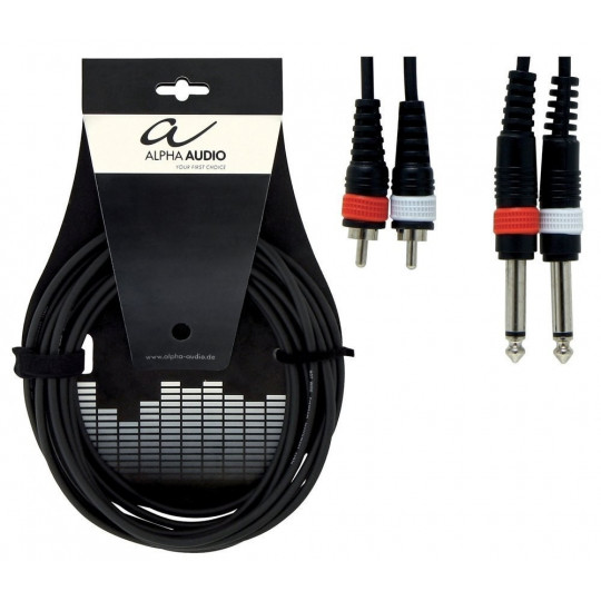 Alpha Audio Basic Twin 2x 6,3 mm Mono Jack - 2x Cinch 3m