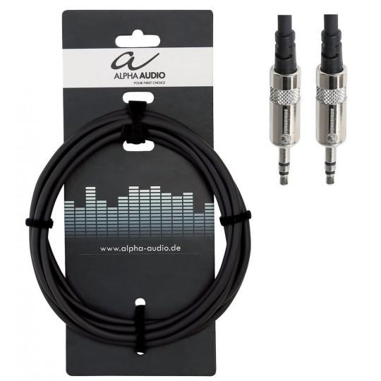 Alpha Audio Pro Line Audio signál 3,5 mm  stereo konektor (m) - 3,5 mm  stereo konektor (m)  1,5m