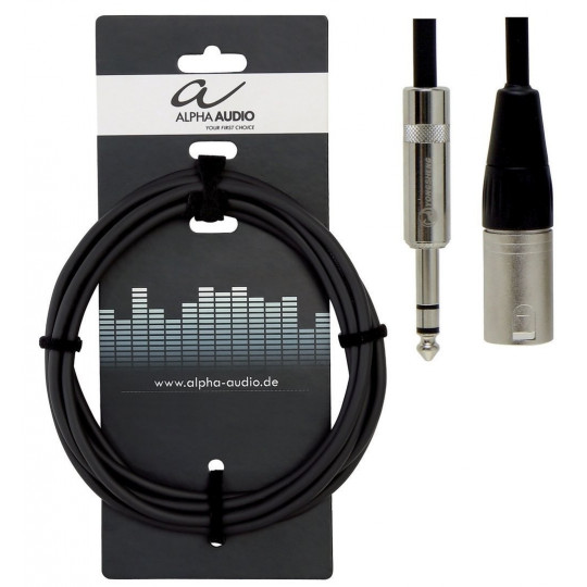 Alpha Audio Pro Line 1x 6,3 mm Stereo - 1x XLR (m) 3m