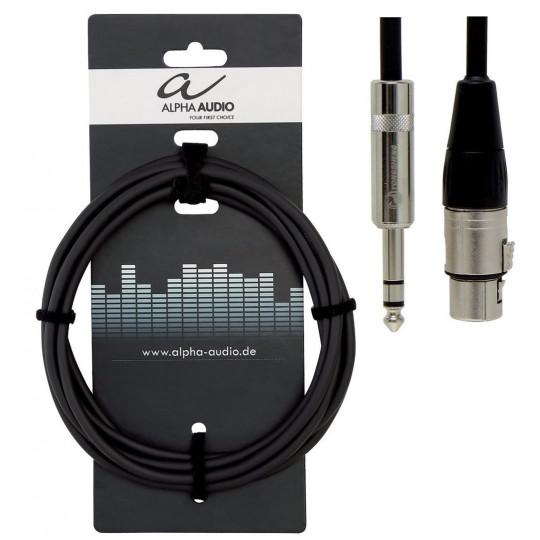 Alpha Audio Pro Line 1x 6,3 mm Stereo - 1x XLR (f) 6m