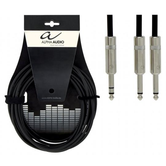 Alpha Audio Pro Line Insert 1x 6,3 mm Stereo Jack - 2x 6,3 mm Mono Jack 3m