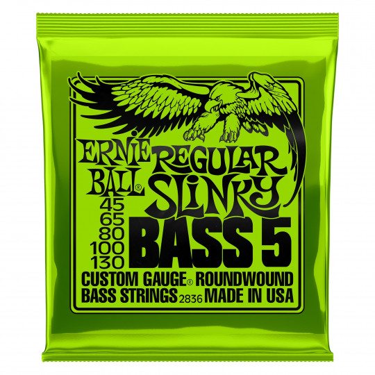 Ernie Ball EB2836 - Regular Slinky 5-string Bass Nickel Wound .045 - .130
