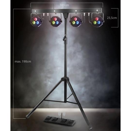 Showlite LB-4390 LED kompletní systém osvětlení RGB