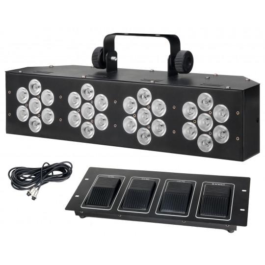 Showlite WW-28X3W LED kompletní systém -  3in1 RGB LED s nožním spínačem