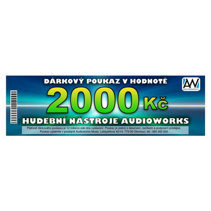 DÁRKOVÝ POUKAZ V HODNOTĚ 2000,- KČ