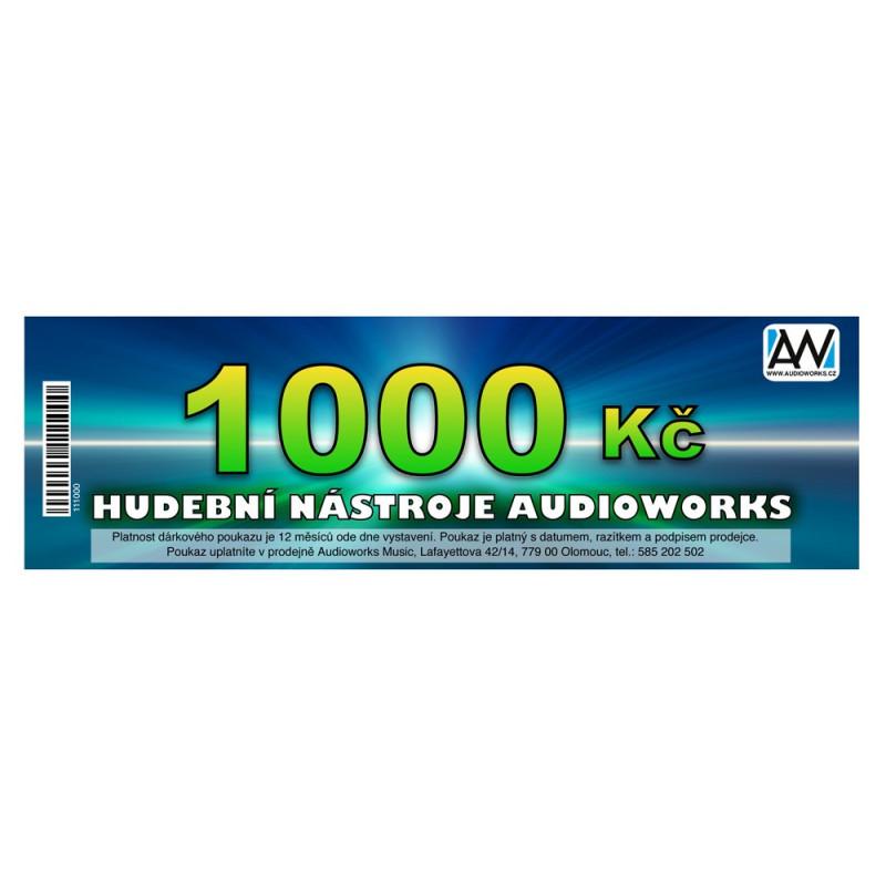 Dárkový poukaz Audioworks v hodnotě 1000 Kč