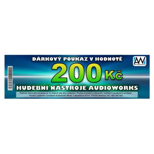 Dárkový poukaz Audioworks v hodnotě 200 Kč