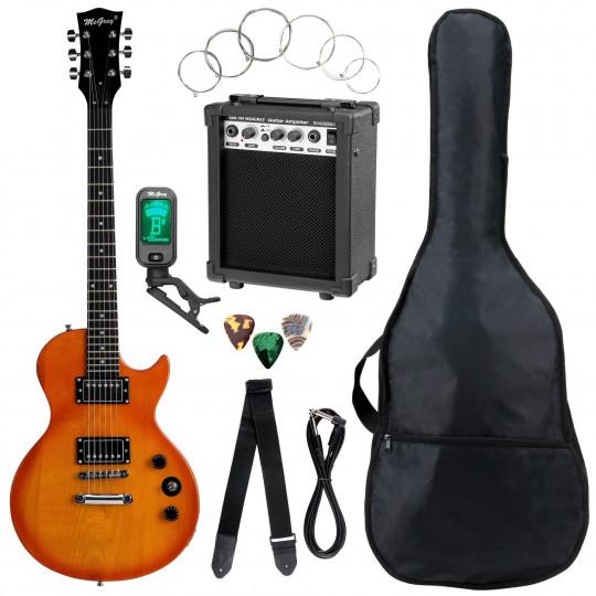McGrey Rockit Elektrická kytara Kompletní sada: Orange Burst