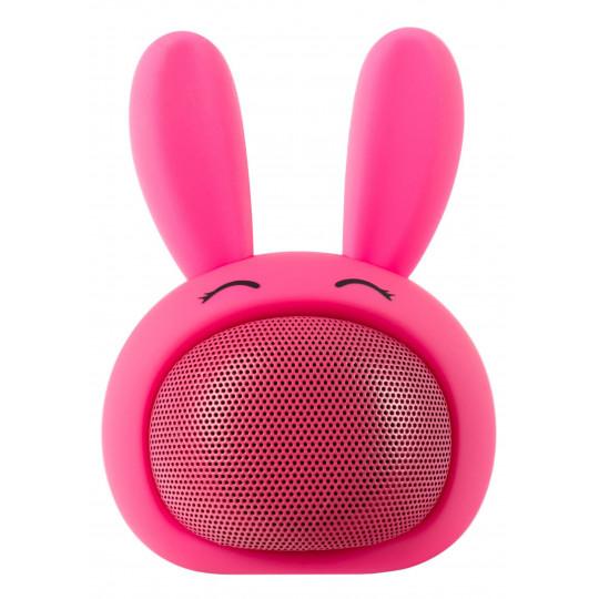 iCutes Bluetooth reproduktor růžový králík