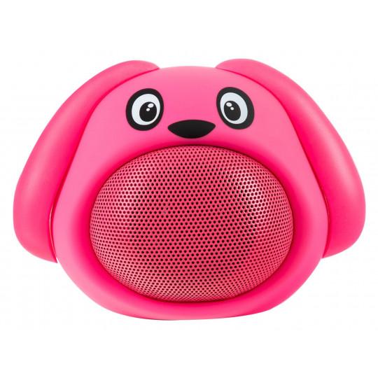 iCutes Bluetooth reproduktor růžový pes